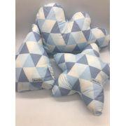 Kit 3 Almofada Triangulo Azul - m Mimo Minasrey Ref 5561