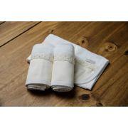 Kit 3 Boquinhas Felpa Renda Off White - ac Baby 05224 40u