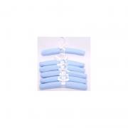 Kit Cabide Poa Azul 6 un - Cuca Criativa Ref 310002