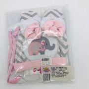 Kit Cobertor 3 Pçs Elefante Rosa - Bruna Baby Ref 30630