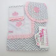 Kit Manta Coroa Real Rosa - Bruna Baby Ref 30548