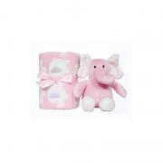 Kit Manta e Elefantinho Rosa - Buba Baby Ref 5965