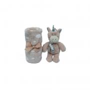 Kit Manta e Unicórnio Bege - Buba Baby Ref 7757
