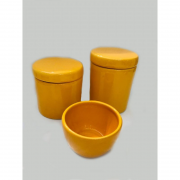 Kit Porcelana Amarelo 3 PÇS - Rossi Niero