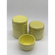 Kit Porcelana Ondulado Amarelo 3 PÇS - Rossi Niero