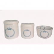 Kit Porcelana Principe Azul - 3 PÇS