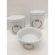 Kit Porcelana Príncipe Bege -  3 PÇS
