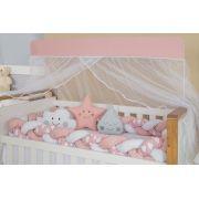 Kit Trança Rose e Branco Com Detalhes Nuvem - m Baby