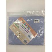 Lençol Com Elástico Liso Azul - Bercinho Incomfral Ref 03032001020002