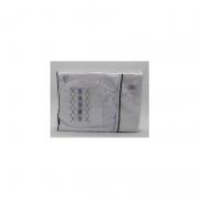 Lençol de Berço 3 Pçs Branco Losango - D Bella Ref 02470 004U