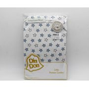 Lençol Para Berço 1 Peça Malha Estrela Azul - Din Don Ref Dd-9c9l1