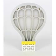 Luminária de Balão Cinza - RH Luminária