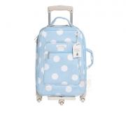 Mala Rodinha 1 Compartimento Bubbles Azul - Masterbag Ref 12bub404