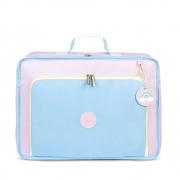 Mala Vintage Colors Azul/Rosa - MasterBag - Ref11col402