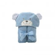 Manta C/ Capuz Bichinhos Azul Urso Azul  - Incomfral Ref 04002110010021