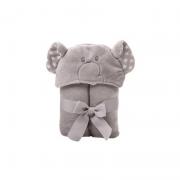 Manta Com Capuz Bichinhos Elefante - Baby Joy Ref 04002110010019