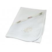 Manta Suedine Bordado Floral Poa - Ac Baby Ref 04124 624u