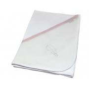 Manta Suedine Bordado Rosa Quartzo - Ac Baby Ref 04124 286u