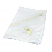 Manta Suedine Paris Amarelo Chambray - Ac Baby Ref 07159 10u