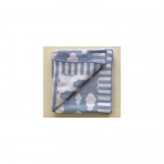 Manta Tricot Azul Bebe - Alvinha Minasrey Ref 5953