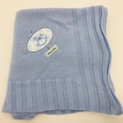 Manta Tricot Azul Bebe -  m Mimo Minasrey Ref 5973