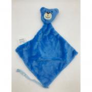 Naninha com Prendedor de Chupeta Urso Azul Escuro- Incomfral Ref 0004