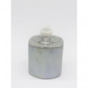 Porta Álcool Gel Porcelana Prateado Geométrico -  1 UND