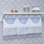 Porta Fraldas Varão Nuvem e Gota Azul - Batistela Ref 60610