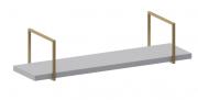 Prateleira Manhattan Branco e Dourado - Cia do Móvel