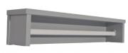Prateleira Retrô Maior Cinza Fosco - Quater   REF. 4160