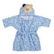 Roupão Com Capuz Bordado Urso Azul - Bambi Incomfral Ref 02012900010013