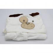 Roupão Com Capuz Cachorrinho Off White Baby Joy Ref 04132901010002
