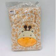 Roupão de Banho Com Capuz Bordado Girafa Bege - Bambi Incomfral Ref 02012900010010