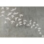 Tapete Birds Cinza/Bege - Cia Do Móvel