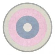 Tapete Circle Block Rosa/Azul/Bege/Cinza - Cia Do Móvel