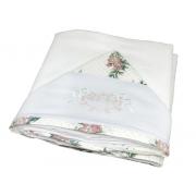 Toalha Banho Dupla Fralda Bordado Floral Poa - Ac Baby Ref 03085 624U