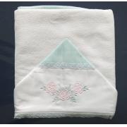 Toalha Banho Paris Verde Tropical Tricoline - Ac Baby Ref 07162 80U