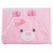 Toalha c/ Capuz Funny Ursinha Rosa - Baby Joy