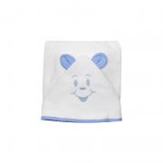 Toalha de Banho Avental Poa Azul - Cuca Criativa Ref 253002