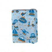 Toalha de Banho Capuz Forro Fralda Azul - Bercinho