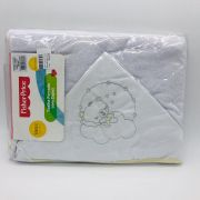 Toalha de Banho Forrada Capuz Urso Soninho - Fisher Price Incomfral Ref 30023302010003