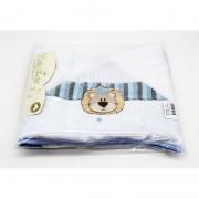 Toalha De Banho Leão Azul Linha Requinte Catavento Ref 501