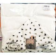 Toalha de Banho Pequena  com Fralda Solta Flamingo - D Bella Ref 02511 002 U