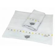 Toalha De Ombro Com 2 Unid Balão Amarelo - Ac Baby Ref 04140 623U