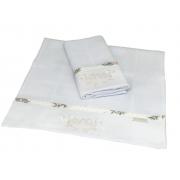 Toalha De Ombro Com 2 Unid Floral Poa - Ac Baby Ref 04140 624U