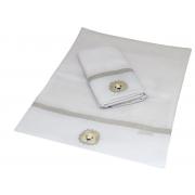 Toalha De Ombro Com 2 Unid Mescla Chambray AC Baby Ref 04140 9U