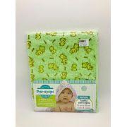 Toalha Felpa 70x90 Com Capuz Urso Baby Verde - Minasrey Ref 1125