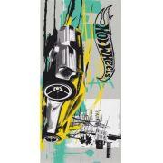 Toalha Felpuda de Banho Estampada Hot Wheels Amarelo e Verde - Lepper Ref 061053