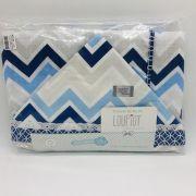 Toalha Soft Chevron Azul Claro e Marinho - Loupiot Minasrey Ref 5197