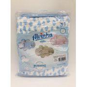 Toalha Soft Estampado Nuvem Azul - Alvinha Minasrey Ref 5901